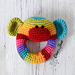 Rainbow Sock Monkey Rattle pattern
