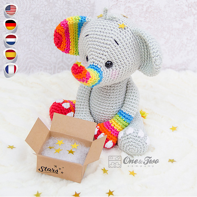 Roy Elephant Crochet Kit by Wool Couture | 640x640