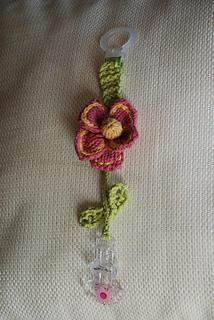 Flower Pacifier Clip