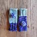 mismatched colorblock pom pom mitts pattern