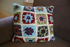 granny square pillow
