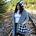 """""""Checkmate"""" pocket scarf with hood pattern"""