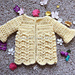 American Girl Textured Buttercup Sweater pattern
