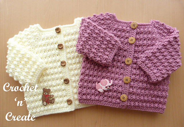 Knobbly Baby Cardigan pattern by Crochet 'n' Create