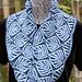Leafy Origami Loop Cowl pattern