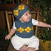 Baby Argyle Vest and Hat pattern