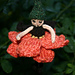 Chocolate Dahlia Flower Fairy pattern