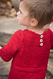 Delicate crochet neckline and daisy buttons created by Jo Wadler of JWJewelryStudio