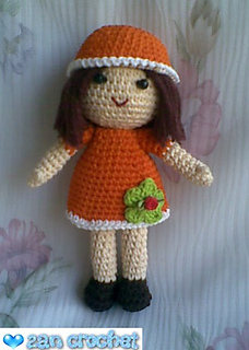 Little Amigurumi doll pattern. (With images) | Crochet doll ... | 320x228