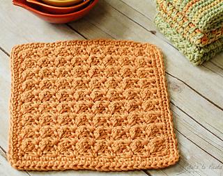 Ravelry Textured Dishcloth Pattern By Kara Gunza