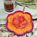 Flower Scrubby Dishcloth pattern