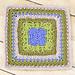Aubrieta Bloom Afghan Square pattern