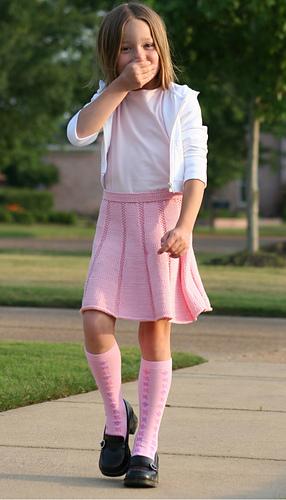 Girl with skirt image Ravelry Barefoot Knits School Girl Skirt Pattern By Christine Schwender Paula Heist