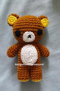 TEDDY BROWN BEAR RILAKKUMA AMIGURUMI DOLLHOUSE HAND CROCHETED ...   320x211