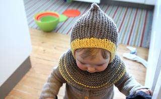Cool Kid Hooded Hat / Artig skrue-hettelue pattern by Anna & Heidi Pickles