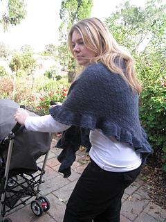 shopping shawl side back