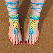 Colorful barefoot sandals