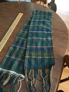 The scarf right off the loom