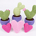 Heart Cactus Collection pattern