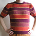 Short-Sleeved Striped Cotton Sweater pattern