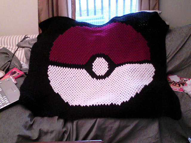 FO] Snorlax pillow (x-post from r/pokemon) : crochet | 480x640