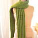 Super-Long Ribbed Scarf pattern