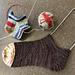 Heel tab for short socks pattern