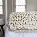 Big Little Dandelion Garter Blanket pattern