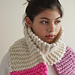 Color Tipped Scarf in Gentle Giant pattern