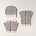 Dappled Hat, Mitten + Hand Warmer Set pattern