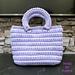 Crochet Tessuto Gaufre Bag pattern