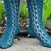 Twining Leaves Sock pattern
