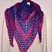 One Row Fishnet shawl pattern