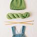 Leaf Top Baby hat pattern