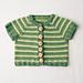 Striped Short-sleeved Cardigan pattern