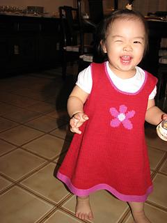 b'day gal in daisy dress