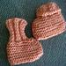 Bev's Easy to knit Newborn Booties pattern