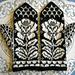 Vit blomma pattern
