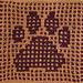 Dirty Paws Dishcloth pattern