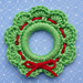 Christmas Wreath Ring Ornament pattern