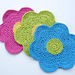 Flower Power Dishcloth pattern