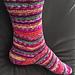 Toe-Up Broken Rib Sock pattern