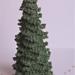 Beaded or snowy christmas tree pattern