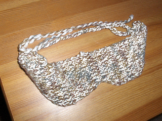 Knit sleep mask