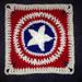 Patriotic Star Square pattern