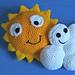 Partly Cloudy: Sun & Cloud Pillows pattern