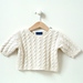 Mini Cable Sweater pattern