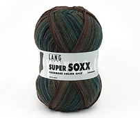 Lang Yarns Super Soxx Color 4 positions Rouge 1095 207
