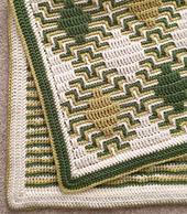 Border 1, worked around 'Diamond Haze' blanket (pattern available separately)