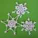 Easy-to-Crochet Lacy Snowflakes pattern